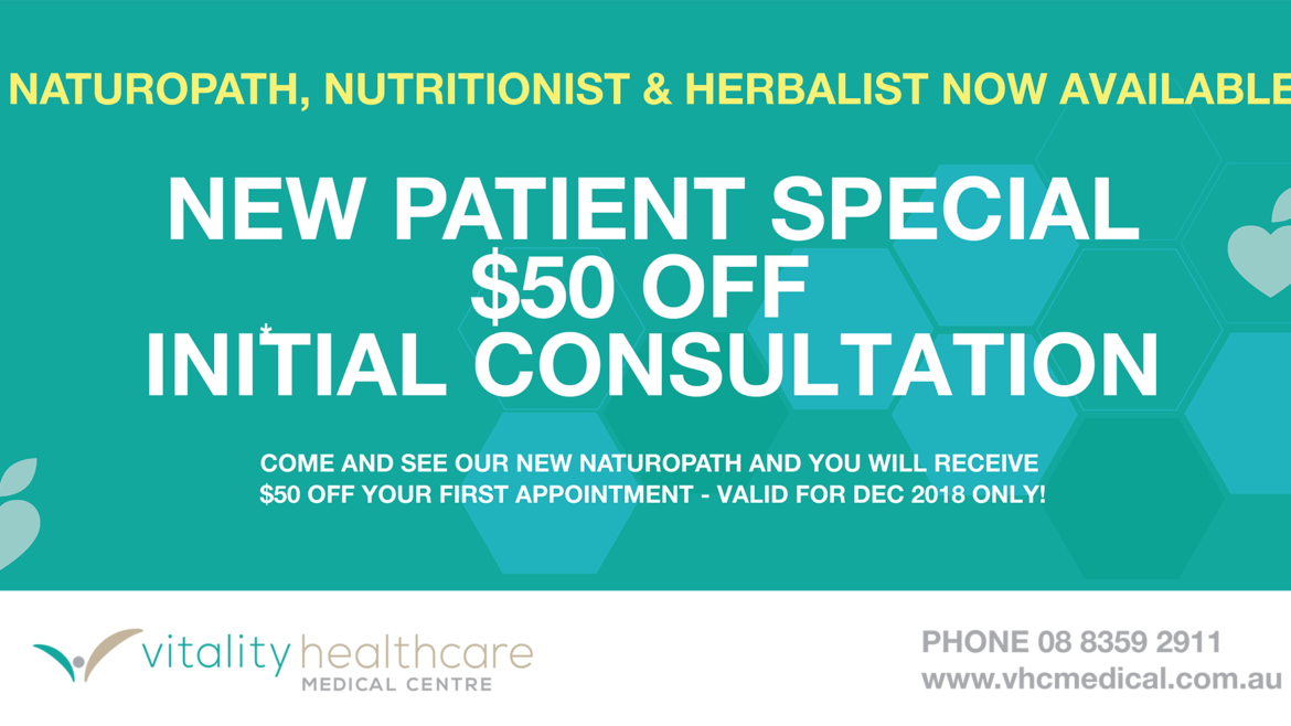 Don't miss out the special discount offer for our Naturopath Service!