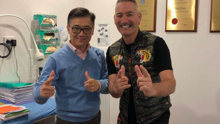 Happy to have Anthony from the Wiggles to come to visit our Dr Anthony! Good show the Wiggles 2018 Adelaide tour!