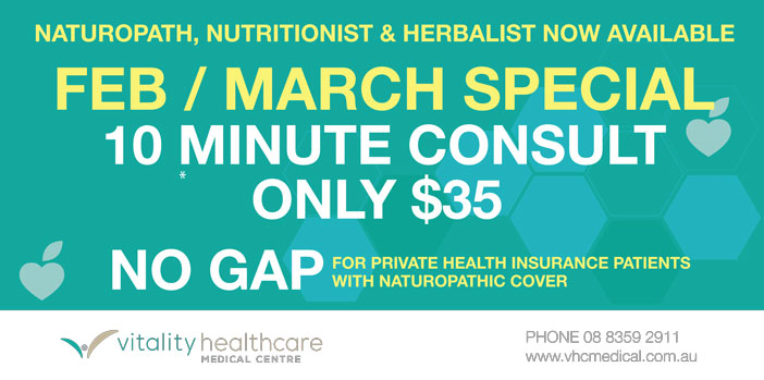 Naturopath February and March Special offer! Don't miss out!
